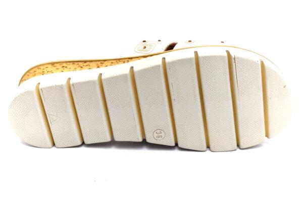 grunland pafo ci2851 g7 beige ciabatte pantofole ecopelle da infilare zeppa ciabatte pantofole estive da donna collezione primavera estate