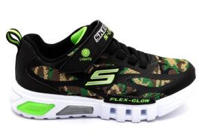SKECHERS 400017L CAMO Verde Militare Scarpe Scuola