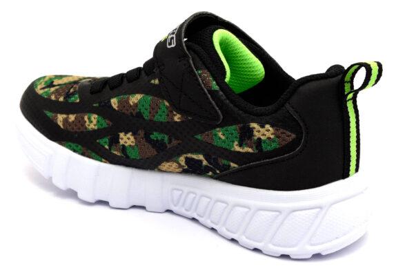 skechers 400017l camo verde militare camouflage scarpe mesh tessuto strappi luci sneakers estive da bambino collezione primavera estate