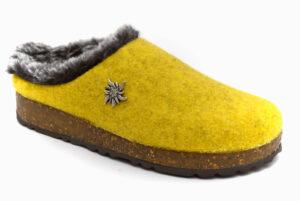 amix diamond 1983 20 10 giallo scarpe lana cotta da infilare zeppa ciabatte pantofole invernali da donna collezione autunno inverno