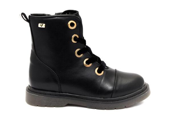 valleverde 10243 nero scarpe ecopelle cerniera stivaletti invernali invernali da bambina collezione autunno inverno