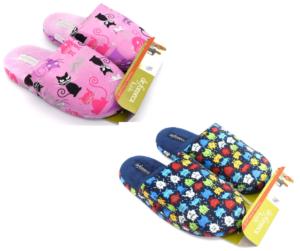 de fonseca de roma i u516 multi blu rosa gatti ciabatte pantofole panno da infilare ciabatte pantofole invernali da bambina collezione autunno inverno