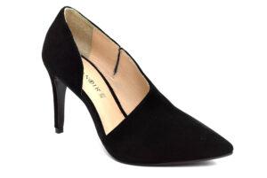 cafenoir hna554 010 na554 nero scarpe camoscio da infilare tacco a stiletto décolleté invernali da donna collezione autunno inverno