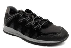 geox u04a7b 0me11 c0017 delray nero scarpe vera pelle lacci sneakers invernali da uomo collezione autunno inverno