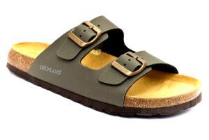 grunland bobo cb3012 40 oliva ciabatte pantofole vera pelle strappi ciabatte pantofole estive da uomo collezione primavera estate