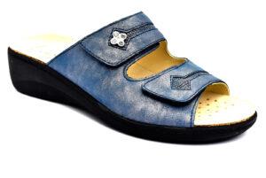 grunland esta ce0729 68 blu ciabatte pantofole vera pelle strappi ciabatte pantofole estive da donna collezione primavera estate