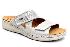 grunland laca ce0750 68 bianco multi ciabatte pantofole vera pelle strappi ciabatte pantofole estive da donna collezione primavera estate