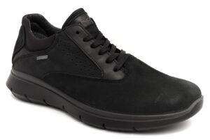 igieco 6120900 nero scarpe nabuk lacci sneakers invernali da uomo collezione autunno inverno
