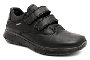 igieco 6121000 nero scarpe vera pelle strappi sneakers invernali da uomo collezione autunno inverno