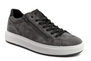 igieco 6133811 antracite grigio scarpe camoscio lacci sneakers invernali da uomo collezione autunno inverno