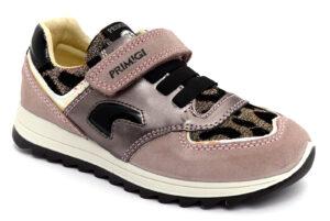 primigi 6393700 rosa scarpe camoscio strappi sneakers invernali da bambina collezione autunno inverno leopardato