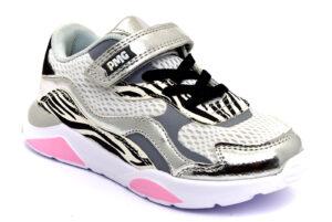 primigi 7454511 bianco animalier zebrate scarpe mesh tessuto strappi sneakers estive da bambina collezione primavera estate