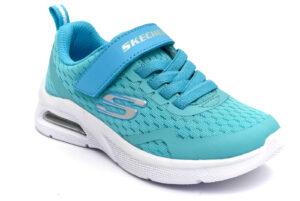 skechers 302377l aqua turchese scarpe mesh tessuto strappi sneakers estive da bambina collezione primavera estate