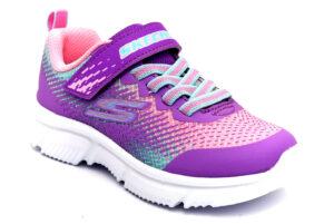 skechers 302430l prmt viola scarpe mesh tessuto strappi sneakers estive da bambina collezione primavera estate