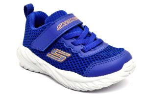 skechers 400083n blor blu scarpe mesh tessuto strappi sneakers estive da bambino collezione primavera estate