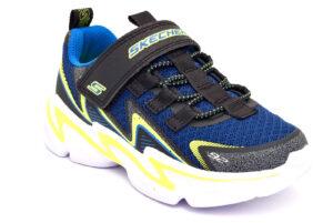skechers 403603l bknv blu scarpe mesh tessuto strappi sneakers estive da bambino collezione primavera estate
