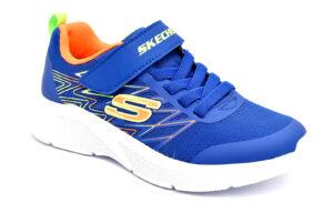 skechers 403770l blor blu scarpe mesh tessuto strappi sneakers estive da bambino collezione primavera estate
