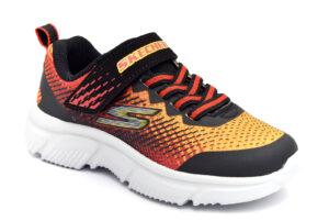 skechers-405035l-bkrd-rosso-arancione-scarpe-mesh-tessuto-strappi-sneakers-estive-da-bambino-collezione-primavera-estate