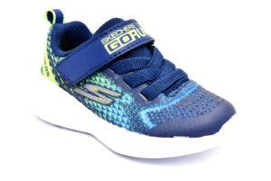 skechers 97858n nvlm blu scarpe mesh tessuto strappi sneakers estive da bambino collezione primavera estate