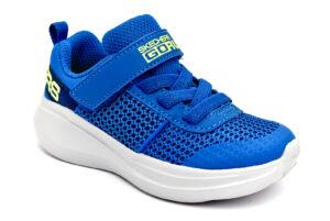 skechers 97875n bllm blu scarpe mesh tessuto strappi sneakers estive da bambino collezione primavera estate