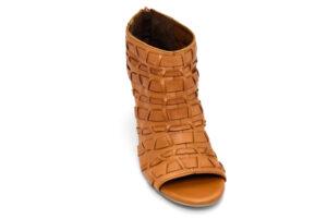 bueno 20wq2900 coconut cuoio scarpe vera pelle cerniera tacco medio sandali estive da donna collezione primavera estate