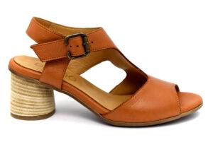 bueno 20wq6401 coconut cuoio scarpe vera pelle fibbia tacco medio sandali estive da donna collezione primavera estat
