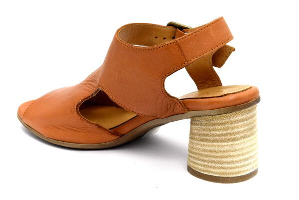 bueno 20wq6401 coconut cuoio scarpe vera pelle fibbia tacco medio sandali estive da donna collezione primavera estate