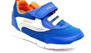 geox b15h8b 01454 c0685 royal blu scarpe mesh tessuto strappi sneakers estive da bambino collezione primavera estate