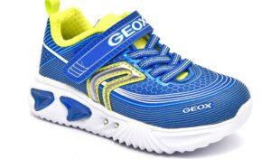 geox j15dza 00011 c4344 royal blu scarpe mesh tessuto strappi luci sneakers estive da bambino collezione primavera estate