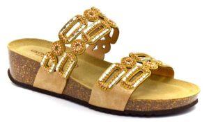 grunland anin cb2528 70 cipria ciabatte pantofole ecopelle da infilare zeppa sandali estive da donna collezione primavera estate