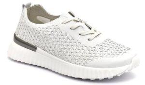 grunland vity sc5135 f6 bianco scarpe ecopelle lacci zeppa sneakers estive da donna collezione primavera estate