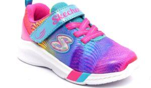 skechers 302023n mlt multi scarpe mesh tessuto strappi sneakers estive da bambina collezione primavera estate