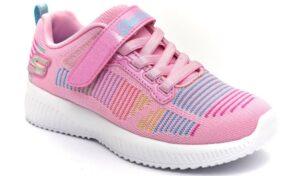 skechers 302379l pkmt rosa scarpe mesh tessuto strappi sneakers estive da bambina collezione primavera estat