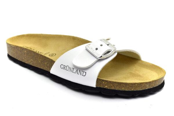 grunland sara cb0323 70 bianco ciabatte pantofole sintetico fibbia plantare in sughero ciabatte pantofole estive da donna collezione primavera estate
