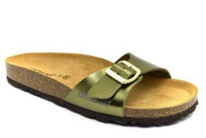 grunland sara cb2382 40 oliva ciabatte pantofole sintetico fibbia plantare in sughero ciabatte pantofole estive da donna collezione primavera estate
