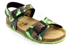 grunland afre sb0383 40 fluo lime scarpe vera pelle strappi plantare in sughero sandali estive da bambino collezione primavera estate