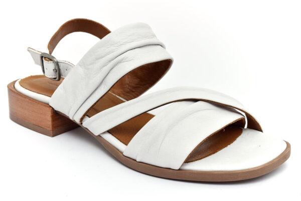 grunland fati sa2377 l6 bianco scarpe vera pelle fibbia tacco basso sandali estive da donna collezione primavera estate