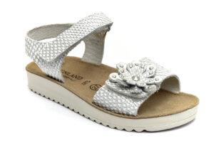 grunland gris sa2443 70 bianco scarpe vera pelle strappi sandali estive da bambina collezione primavera estate