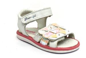 primigi 5368700 bianco scarpe vera pelle strappi sandali estive da bambina collezione primavera estate