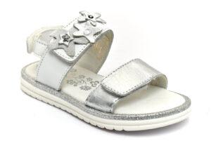 primigi 5429622 bianco scarpe vera pelle strappi sandali estive da bambina collezione primavera estate