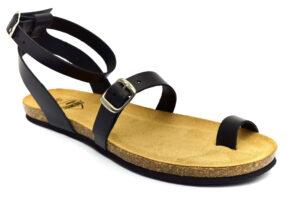 amix diamond c118292 b1s nero sandal.infradito sintetico fibbia plantare in sughero estive da donna collezione primavera estate