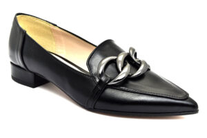 divine follie 533 nero scarpe ecopelle da infilare tacco basso mocassini estive da donna collezione primavera estate