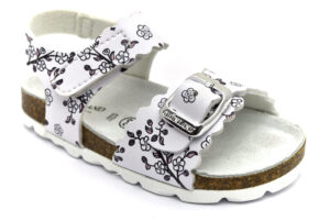 grunland aria sb1652 40 bianco scarpe ecopelle strappi plantare in sughero sandali estive da bambina collezione primavera estate