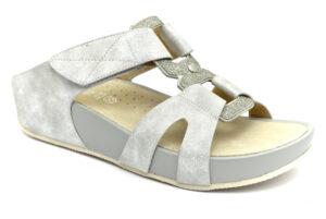 grunland dira ci2883 c9 argento multi scarpe vera pelle strappi plantare in sughero ciabatte pantofole estive da donna collezione primavera estate