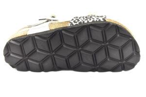 grunland luce sb1525 40 argento multi scarpe ecopelle leopardato fibbia plantare in sughero sandali estive da bambina collezione primavera estate