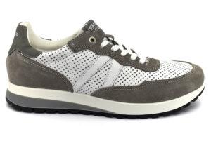igieco 7122100 bianco scarpe vera pelle lacci plantare anatomico estraibile sneakers estive da uomo collezione primavera estate