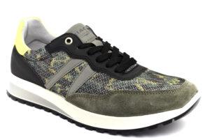 igieco 7122211 militare scarpe tessuto lacci plantare anatomico estraibile sneakers estive da uomo collezione primavera estate