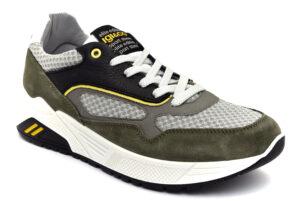 igieco 7125100 militare scarpe tessuto lacci memory foam sneakers estive da uomo collezione primavera estate
