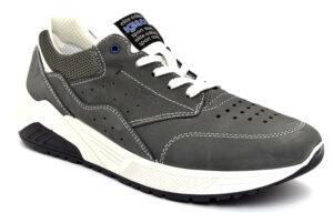 igieco 7125233 grigio scuro scarpe nabuk lacci memory foam sneakers estive da uomo collezione primavera estate