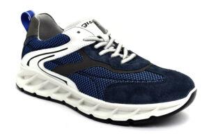 igieco 7126600 blu scarpe tessuto lacci sneakers estive da uomo collezione primavera estate
